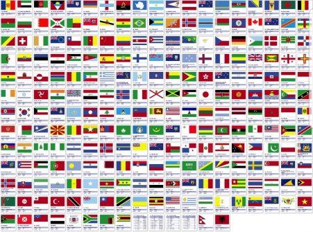 تنوع رنگی به اندازه کشورهای جهان