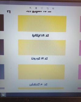 کاتاگل اسپری رنگ تک گل، کد ۱۲ تا ۲۱